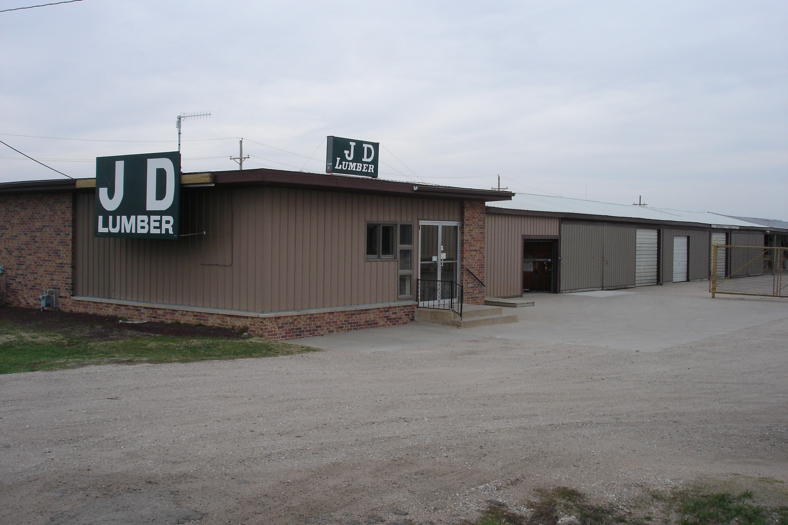 A picture of the J D Lumber's store